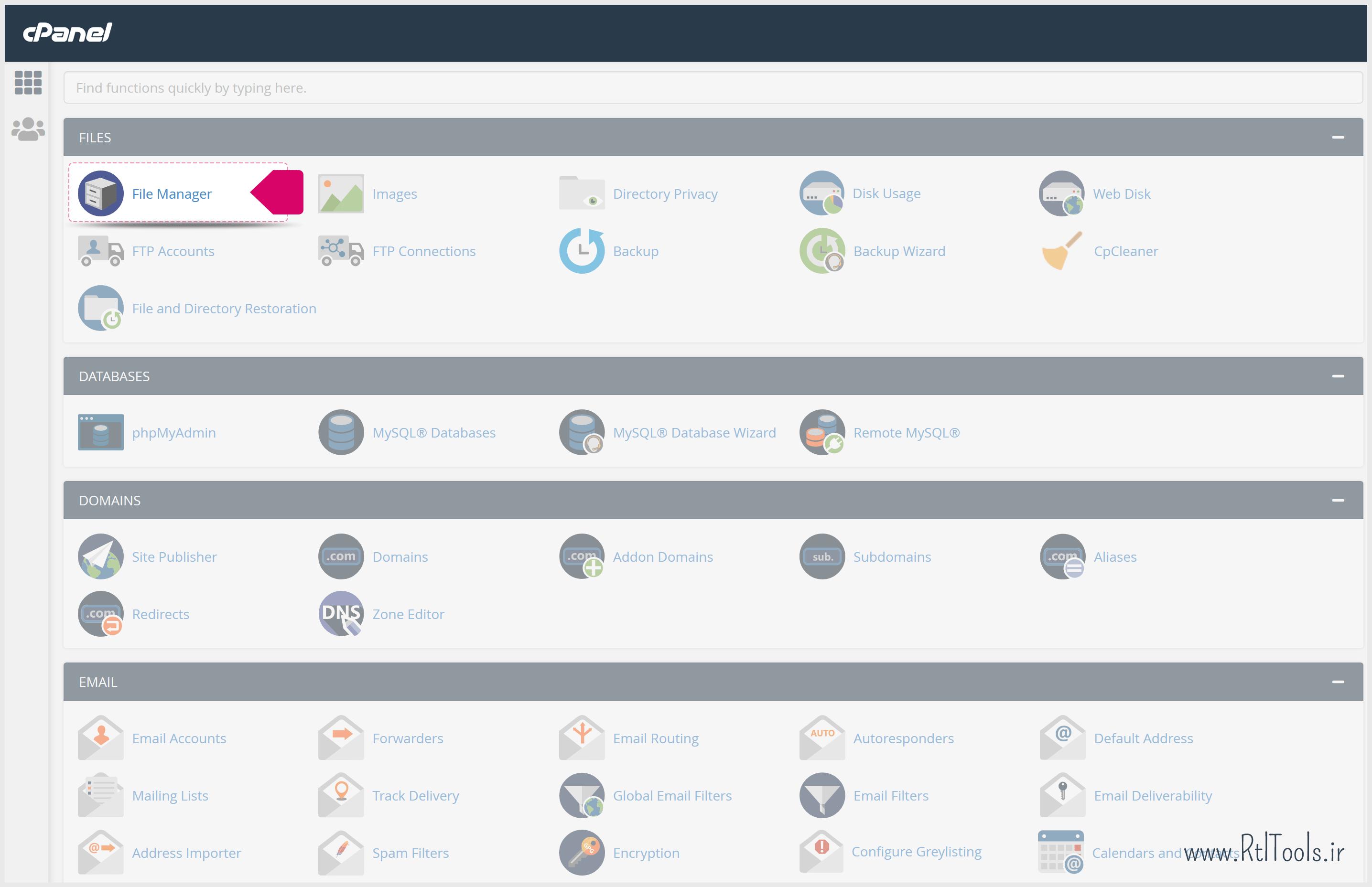File Manager cPanel | فایل منیجر سی پنل | آموزش تصویری راه اندازی بسته نصبی وردپرس