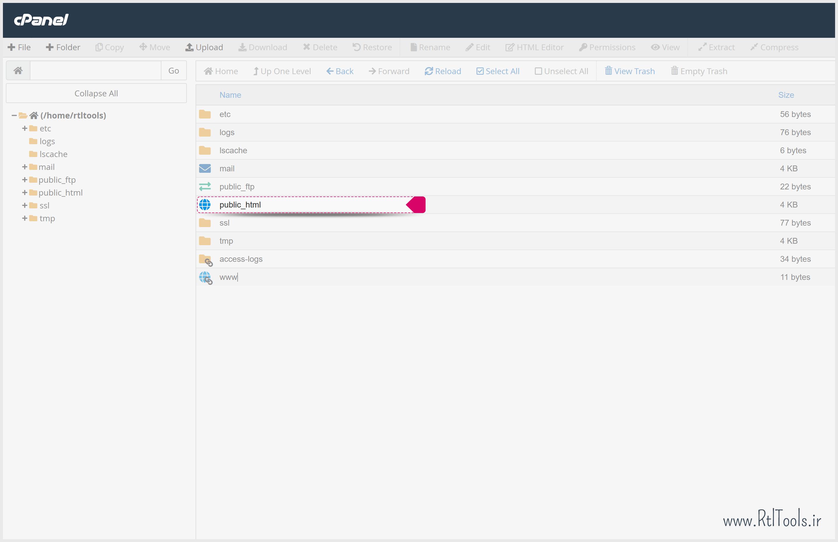 public_html cPanel | پوشه public_html در هاست | آموزش تصویری راه اندازی بسته نصبی وردپرس