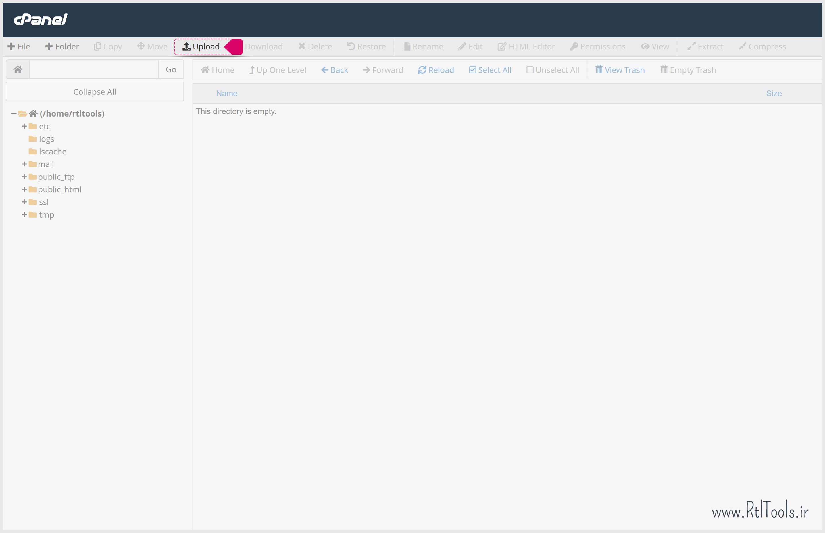 upload file to cPanel | آپلود فایل در سی پنل | آموزش تصویری راه اندازی بسته نصبی وردپرس